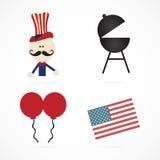 USA Icons Royalty Free Stock Image