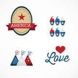 USA Icons Stock Image