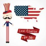 USA Icons Stock Photos