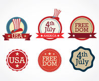 USA Icons Royalty Free Stock Image