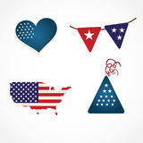 USA Icons Royalty Free Stock Photos