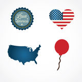 USA Icons. Colletions and concepts. Vector Illustrations Stock Photo