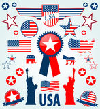 USA icons Stock Photos