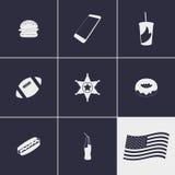 USA icons Stock Photography