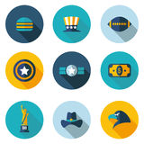 USA,icons in vector format Royalty Free Stock Image
