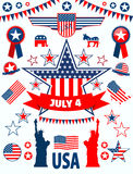 USA icons Royalty Free Stock Images