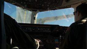 USA IDAHO, NOVEMBER 2015, Long Shot Of A Tanker Aircraft Flying Filmed Out Cockpit. A aircraft fly in position of the back of a tanker aircraft. The shot is take stock video