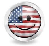 USA ikony Chorągwiany Szczęśliwy projekt Zdjęcia Stock