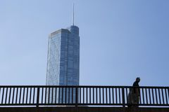 USA - Illinois - Chicago. The trump international hotel and tower Stock Photography