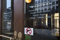 USA - Illinois - Chicago. The union station entrance Royalty Free Stock Photos
