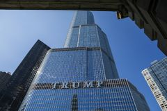 USA - Illinois - Chicago. The trump international hotel and tower royalty free stock image