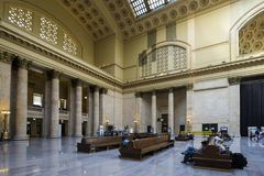 USA - Illinois - Chicago. The union station entrance Royalty Free Stock Photos