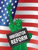 USA Imigracyjnej reformy Rządowa statua wolności Obrazy Royalty Free