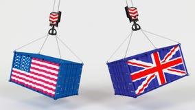 USA import Tarrifs Obraz Royalty Free