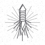 Usa indepence day design. Rocket firework icon over white background. usa indepence day design. vector illustration Stock Photos