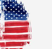 USA Independence day background. USA abstract flag brushed background. Vector abstract grunge brushed flag. Template for holiday banner, greeting card Stock Images