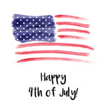 USA Independence day background. Happy 4th of July. Vector abstract grunge brushed flag with text. Template for banner, greeting card, invitation, poster Royalty Free Stock Images