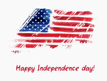 USA Independence day background. Happy 4th of July. Vector abstract grunge brushed flag with text. Template for banner, greeting card, invitation, poster Stock Image