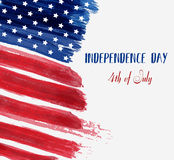 USA Independence day background. Happy 4th of July. Vector abstract grunge brushed flag with text. Template for banner, greeting card, invitation, poster Stock Images