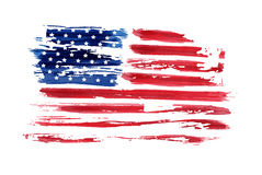 USA Independence day background. Happy 4th of July. Vector abstract grunge flag. Template for banner, greeting card, invitation, poster, flyer, etc Stock Images