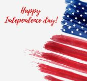 USA Independence day background. Happy 4th of July. Vector abstract grunge flag with text. Template for banner, greeting card, invitation, poster, flyer, etc Royalty Free Stock Photo