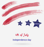 USA Independence day background. Happy 4th of July. Vector abstract grunge flag with text. Template for banner, greeting card, invitation, poster, flyer, etc Stock Photo