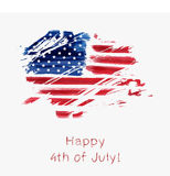 USA Independence day background. Happy 4th of July. Vector abstract grunge flag with text. Template for banner, greeting card, invitation, poster, flyer, etc Stock Images