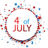 USA Independence Day background. Round 4th of July USA Independence Day background. Vector paper illustration Royalty Free Stock Photos