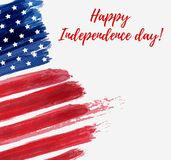 USA Independence day background. Happy 4th of July. Vector abstract grunge flag with text. Template for banner, greeting card, invitation, poster, flyer, etc Stock Photography