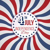USA Independence Day background. Vector illustration in colors of american flag. 4 July national celebration. Stock Photography