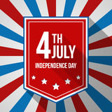 USA Independence Day background. Vector illustration in colors of american flag. 4th of July national celebration. Royalty Free Stock Image