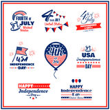 USA Independence Day Badges Set Royalty Free Stock Image