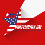 USA Independence Day banner Royalty Free Stock Photo