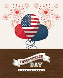 USA independence day card. Vector illustration graphic design Royalty Free Stock Photo