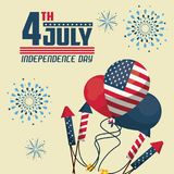USA independence day card. Vector illustration graphic design Stock Image