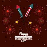 USA independence day card. Vector illustration graphic design Royalty Free Stock Photography
