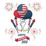 USA independence day card. Vector illustration graphic design Royalty Free Stock Image