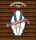 USA independence day card. Vector illustration graphic design Stock Photography