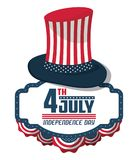 USA independence day card. Vector illustration graphic design Stock Photos