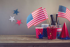 USA independence day celebration. Table arrangement for party Royalty Free Stock Photography