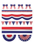 USA  independence day decoration borders set. Royalty Free Stock Images