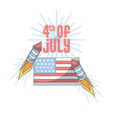 Usa independence day design Stock Photography