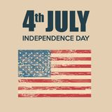 USA independence day with flag. Vector illustration design Royalty Free Stock Images