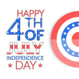 USA independence day greeting card Stock Image