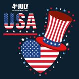 USA independence day with hat. Vector illustration design Royalty Free Stock Photography