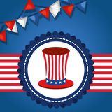 USA independence day with hat. Vector illustration design Stock Image