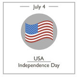 USA Independence Day, July 4 Royalty Free Stock Photo