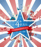 USA independence day label Stock Photography