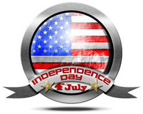 USA Independence Day - Metal Icon Royalty Free Stock Photos