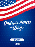 USA Independence Day poster. Fourth of July holiday event banner. 4th of July holiday.  royalty free illustration